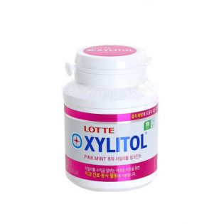 Xylitol Gum Pink Mint Jar 96g