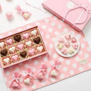 Set DIY - Coeurs en Chocolat A007 500g